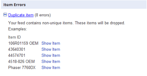 Google AdWords item Errors - White Shark Media Blog