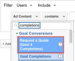 Adwords goal conversions - White Shark Media