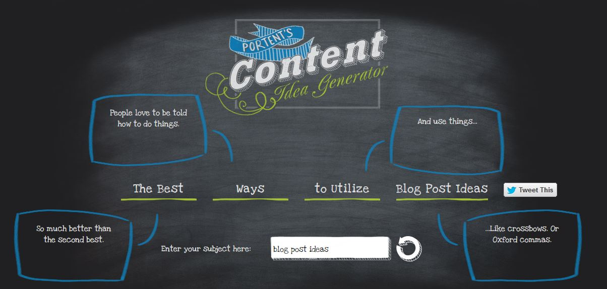 Portent's Content Idea Generator - White Shark Media
