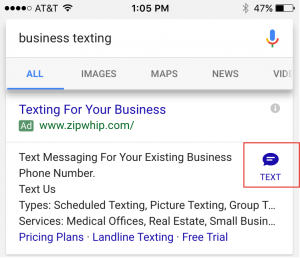 adwords click to text ads 1