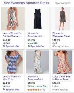 Womens Summer Dress Shopping PPC Campaign